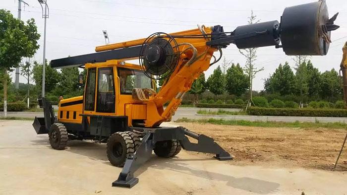 适合楼房地基施工的小旋挖钻图